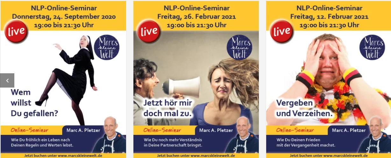 Marcs kleine Welt Online Seminare